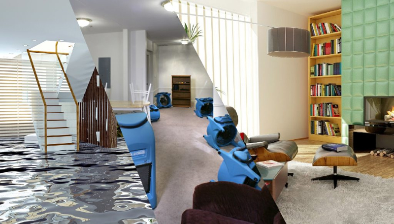 water damage restoration california